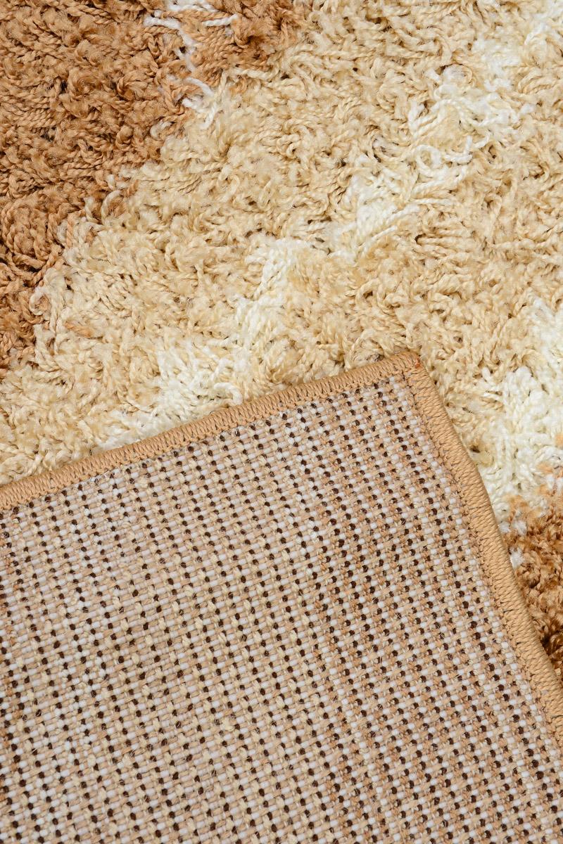 """Ковер Mutas Carpet """"Shaggy Fashion"""", прямоугольный, цвет: бежевый, слоновая кость, 80 х 150 см"""