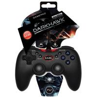 Геймпад EXEQ Darkhawk (PS2)eq-ps2-02040Современный геймпад DarkHawk с двумя режимами управления – это достойная замена оригинальному манипулятору консоли SONY PS2. Небольшой вес, эргономичная форма, особое покрытие «Grip Surface» призваны создавать ощущение комфорта во время продолжительной игры.«DarkHawk» один из лучших геймпадов в своем классе.