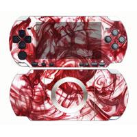 """Виниловая наклейка для игровой консоли Sony PSP 2000 """"Красные чернила"""" 0216"""
