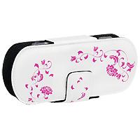 Защитный чехол Free-Style для PSP 2000/3000 (Цвет: белый с розовым узором)