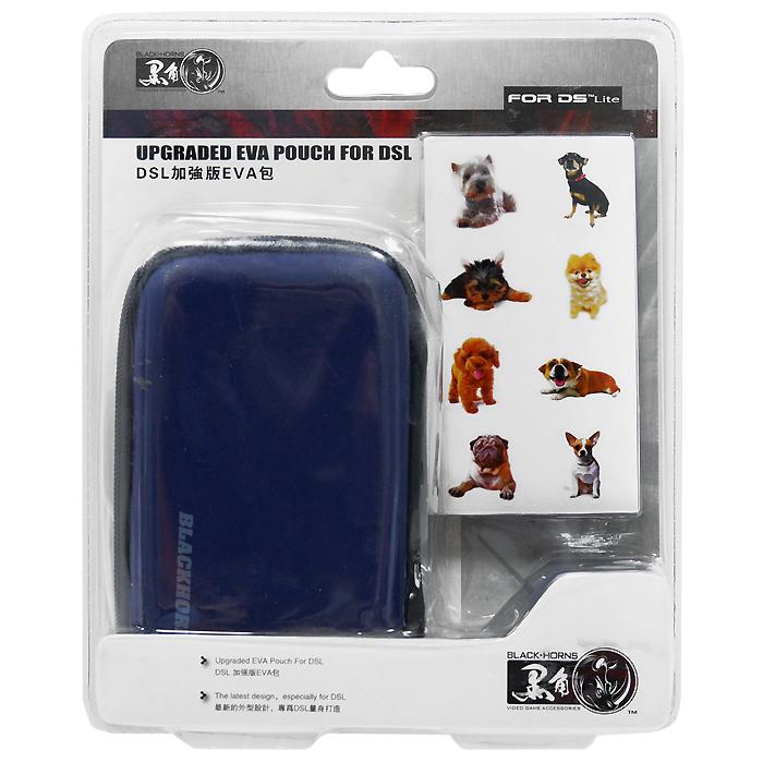 Чехол EVA с наклейками для приставки DS Lite (синий)BH-DSL09211Чехол EVA надежно защитит Nintendo DS Lite от ударов, царапин, и других повреждений. Надежный, компактный и вместительный защитный чехол для вашей приставки имеет отделения для картриджей и других аксессуаров. Съемный карабин позволит надежно закрепить чехол на рюкзаке, сумке или ремне.