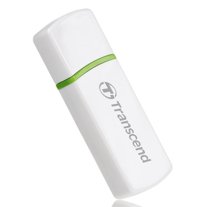 Transcend P5, White КардридерTS-RDP5WКомпактный картридер Transcend P5 оснащен встроенным USB2.0 интерфейсом Plug and Play, что обеспечит быструю и удобную передачу данных. Полная совместимость с высокоскоростным интерфейсом USB 2.0 Питание от USB, нет необходимости во внешнем адаптере LED индикатор статуса передачи данных При использовании адаптера устройство совместимо с картами памяти: miniSD, miniSDHC, MMCmicro