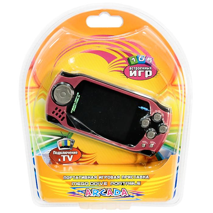 Портативная игровая приставка MegaDrive Portable Arcada (красная) ( VG-1629 )