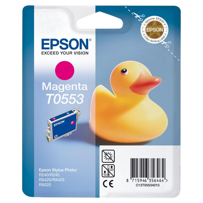 Epson C13T05534010 MagentaC13T05534010Картридж Epson с чернилами для струйной печати.