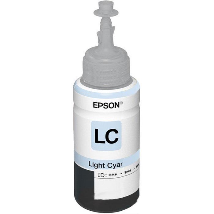 Epson T6735 (C13T67354A), Light Cyan контейнер с чернилами для L800C13T67354AКонтейнер с чернилами.