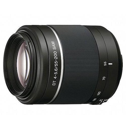 Sony SAL-55200-2SAL55200-2.AEТелеобъектив Sony SAL-55200-2 для цифровых камер c байонетом A идеально подходит для путешествий и повседневной съемки. Универсальный длиннофокусный зум-объектив широкого применения Дизайн объектива DT оптимально подходит для камер с матрицей APS-C: легкий, компактный и удобный в дороге Плавный привод автофокусировки (SAM) для плавной работы автофокуса