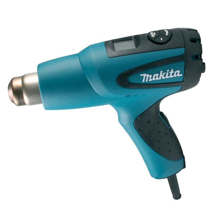 Строительный фен Makita HG651CKHG651CKСтроительный фен Makita HG651CK оснащен умной электроникой для наиболее эффективной работы с различными материалами и в зависимости от предполагаемого вида работ. Мощный и надежный двигатель (2000 Вт) обеспечивает превосходные рабочие характеристики и высокую производительность инструмента. Горячий воздух (до 650°С) выдувается из сопла со скоростью до 550 л/мин под давлением до 1,2 кПа. В термопистолете предусмотрено семь режимных программ с соответствующей температурой и скоростью подачи воздуха, позволяющих быстро и просто начать работу без дополнительных настроек. Если заданный режим не устраивает по какому-либо показателю, можно произвести индивидуальную настройку при помощи установочной программы SET. При этом рабочая температура может изменяться с шагом 5°С. Термопистолет обладает встроенной электронной памятью: после выключения происходит запоминание последних показателей и при очередном включении машина готова работать в прежнем режиме. Константная...
