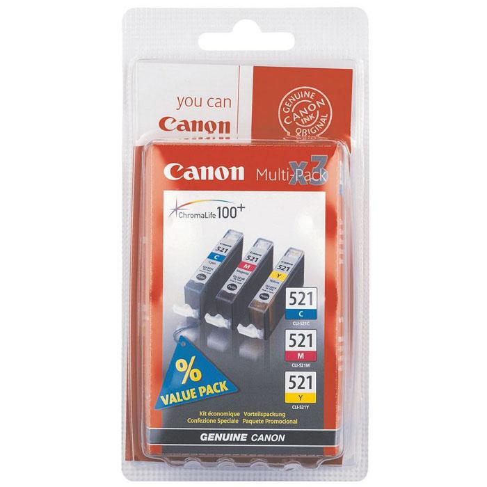 Canon CLI-521 Multipack (C/M/Y)2934B010Набор цветных картриджей CLI-521 Multipack (C/M/Y).