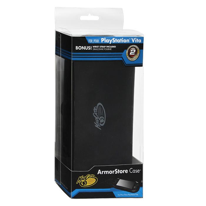 Защитный футляр с силиконовой вставкой для PS Vita (черный)4961818018051Защитный футляр с силиконовой вставкой для PS Vita - это надежная защита вашей консоли от повреждений и царапин. Складная крышка футляра обеспечивает быстрый доступ к консоли. Легкий и простой в использовании футляр имеет 6 отделений для хранения игр.