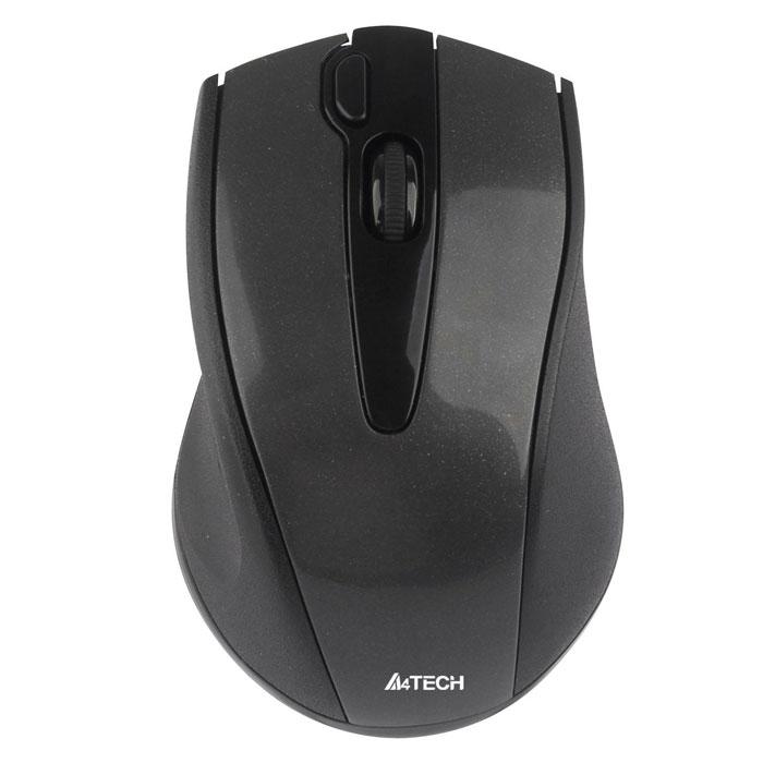 A4Tech G9-500F-1, Black мышьW G9-500F-1Беспроводная мышь A4Tech G9-500F. Уверенная работа на неровных поверхностях (инновационная технология V-Track): Усиленный оптический луч глубоко проникает в структуру поверхности, благодаря чему мышь быстро и четко работает на любых покрытиях. Если вы любите расположиться с ноутбуком на кровати или на ковре - эта мышь для вас. Мышь работает даже на объемной меховой поверхности! Одна кнопка - 16 функций: Если вы хотите сделать свою работу за компьютером более легкой и быстрой, назначьте все необходимые функции на правую кнопку мыши. В зависимости от направления движения руки она может выполнять до 16 различных функций, например, Увеличить/Уменьшить, Прокрутка влево/Прокрутка вправо, Копировать/Вставить и т.д. Для выполнения выбранной команды нужно провести мышью в заданном направлении, удерживая кнопку. Колесо 4D-прокрутки: Позволяет осуществлять навигацию в четырех направлениях. Радиус действия - 15 м: ...