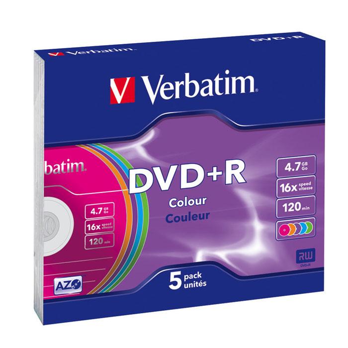 Verbatim DVD+R, 4.7Gb, 16x, 5шт Slim Color43556В дисках Verbatim DVDR/RW используется технология MKM/Verbatim, обеспечивающая непревзойденное качество записи. Тесное сотрудничество отдела исследований и разработок компании Mitsubishi Chemical с производителями дисководов обеспечивает широкую совместимость дисков Verbatim, что делает их идеальными носителями для передачи компьютерных данных, домашних видеофильмов, фотографий и музыки.