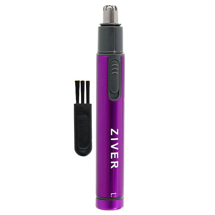 Триммер Ziver для стрижки волос в носу и ушах, цвет: фиолетовый10.ZV.006_фТриммер Ziver специально разработан для безопасной стрижки волосков в носу и ушах. Модный и эргономичный дизайн триммера позволяет вместить его даже в небольшую дорожную косметичку! Компактный прибор состригает волоски без боли. К триммеру прилагается защитный колпачок и щеточка для очистки. Триммер работает от 1 батарейки типа ААА (не входит в комплект). Характеристики: Материал: пластик, металл. Размер триммера: 1,4 см х 1,4 см х 11 см. Артикул: 10.ZV.006. Производитель: Китай.