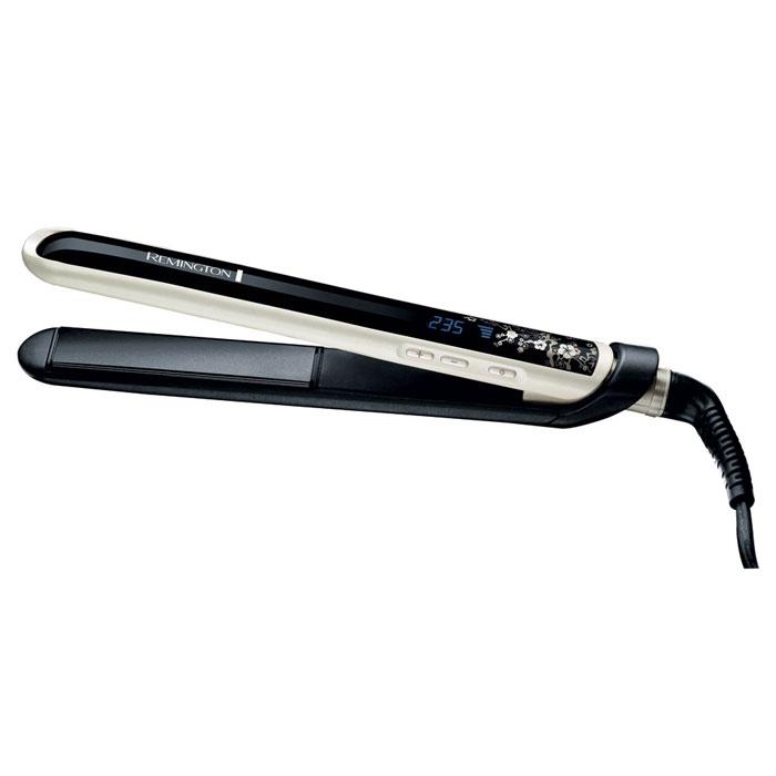Remington S9500 E51 PearlS9500 E51 Pea rl (Straightener)Выпрямитель Remington S9500 E51 Pearl. Передовая технология объединила традиционное керамическое покрытие с сиянием жемчуга, чтобы создать великолепный выпрямитель для Ваших волос! Самый горячий Мы знаем, что Вам нравится выбирать самостоятельно температуру нагрева Вашего выпрямителя. Пожалуйста! Выберите оптимально комфортную температуру из диапазона 150-235°C - это самое горячее предложени на рынке. Самый быстрый Наш выпрямитель готов к работе уже через 10 секунд после включения. Только включите его и он уже готов служить Вашим волосам! Самый гладкий Плавающие пластины с усовершенствованной керамикой и жемчужным покрытием подарят Вашим волосам жемчужное сияние. Пластины скользят по волосам, бережно выпрямляя их. Только легкие гладкие волосы высшего качества. Коллекция Pearl Styling В коллекции Pearl представлены все инструменты, необходимые вам для того, чтобы сделать стильную укладку, отвечающую последним...