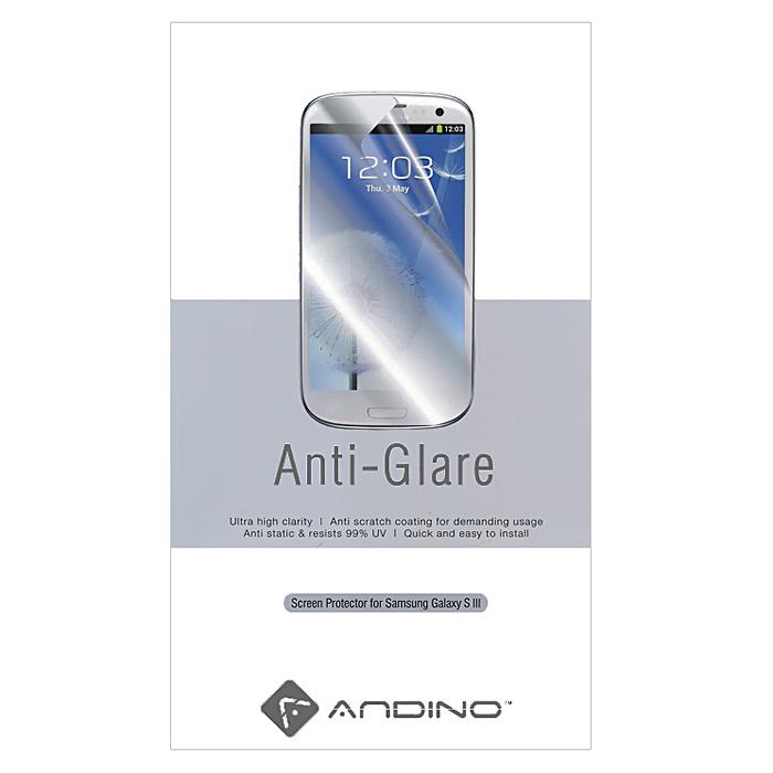 Andino защитная пленка для Samsung Galaxy S III, матовая19712Защитная пленка Andino защитит Ваш смартфон Samsung Galaxy S III от пыли, грязи и царапин.
