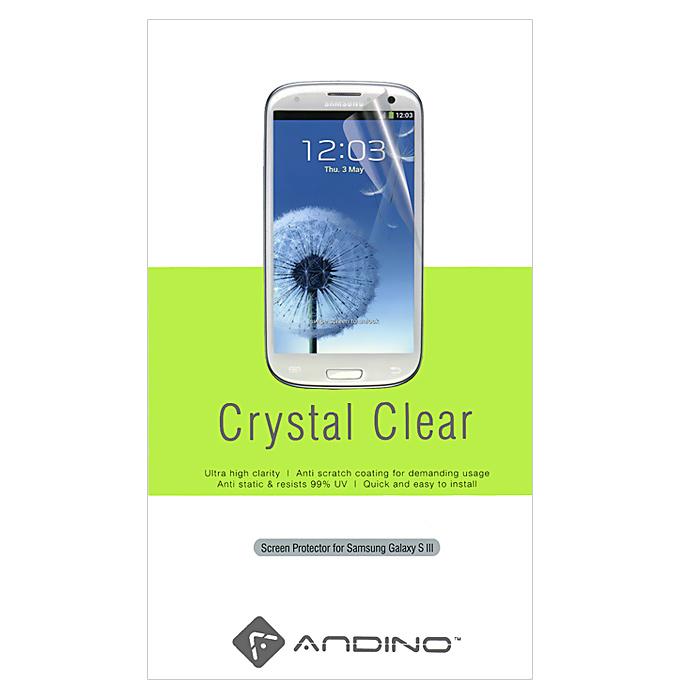 Andino защитная пленка для Samsung Galaxy S III, глянцеваяPSPGO-Y051Защитная пленка Andino защитит Ваш смартфон Samsung Galaxy S III от пыли, грязи и царапин.