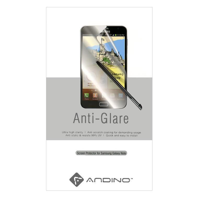 Andino защитная пленка для Samsung Note, матовая21775Защитная пленка Andino защитит Ваш смартфон Samsung Galaxy Note от пыли, грязи и царапин.