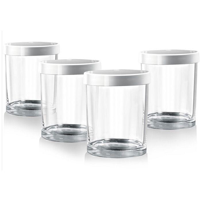 Redmond RAM-G1 комплект банок для йогуртаRAM-G1, 4 баночкиБаночки предназначены для использования во всех типах йогуртниц. Стеклянные баночки сохраняют натуральные свойства домашнего йогурта. С помощью маркера даты можно указывать дату изготовления йогурта или срок его хранения. Диаметр банки (по верхнему краю): 7 см. Высота банки (без крышки): 8,4 см.