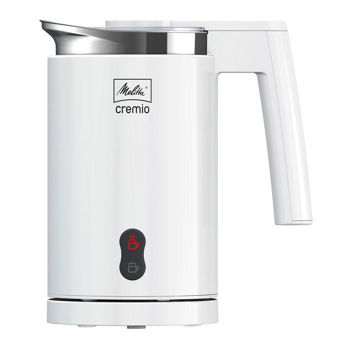 Melitta Cremio, White вспениватель молокаВспениватель молока Cremio, белый.Вы любите латте маккиато? Капучино? А может быть, фраппе? Melitta Cremio приготовит отличную молочную пену для любого из этих напитков! Создает кремовую молочную пену: Melitta Cremio приготовит для любого кофейного напитка замечательную мелкопористую молочную пену. Неважно, какое молоко используется - соевое, безлактозное или цельное - молочная пена с Cremio всегда будет идеальной. Приготовление холодной и горячей молочной пены: Получите возможность наслаждаться любимыми кофейными напитками дома и приготовьте латте макиато, капуччино или кофе глясе с помощью Melitta Cremio. Приготовьте свой любимый кофейный напиток одним нажатием кнопки! Прикрутите необходимую насадку на мешалку - можно начинать! Подогревает молоко без риска пригорания: Вы сможете подогреть молоко без риска пригорания. Приготовление 2-х латте маккиато или 4-х капучино одним нажатием кнопки: Одним нажатием кнопки Melitta Cremio с легкостью...