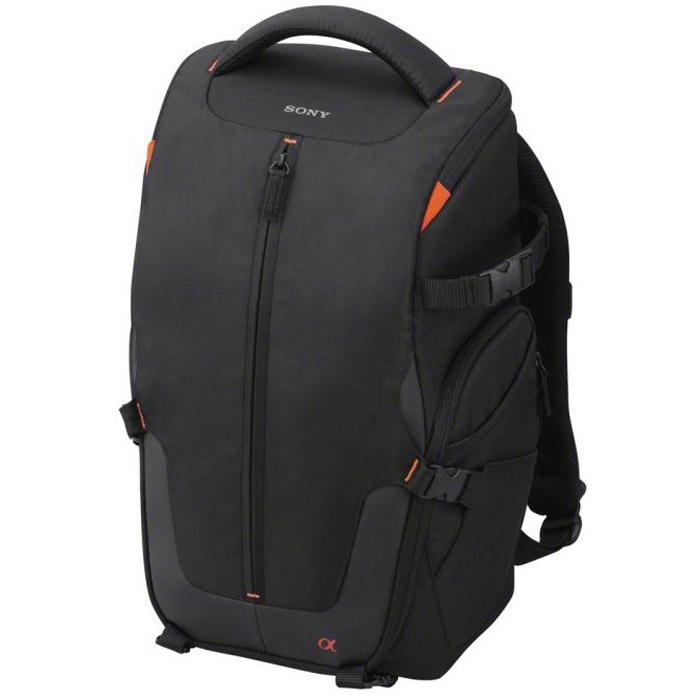 Sony LCS-BP2 рюкзак для NEX и Alpha, BlackLCSBP2B.SYHТекстильный системный рюкзак Sony LCS-BP2 среднего размера для хранения, переноски и защиты фотокамеры Alpha со стандартным объективом, трех дополнительных объективов, вспышки и пр. аксессуаров.