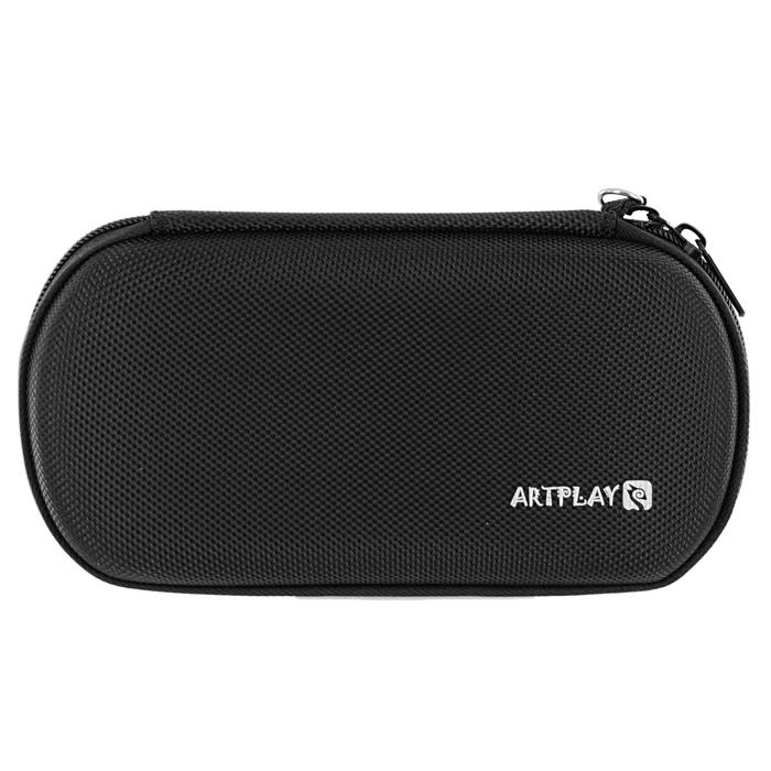 Защитная сумка ARTPLAYS EVA Pouch Fiber для PSP E1008 Street/3000 (цвет: черный)PSP2000-Y007Надежная, компактная и вместительная защитная сумка для PSP E1008 Street/3000. Чехол выполнен из ЕВА-материала и обтянут тканью. Отлично сшита, швы занимают минимум места Имеет отделения для PSP, UMD-дисков и других аксессуаров