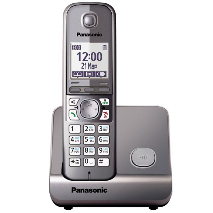 Panasonic KX-TG6711 RUMKX-TG6711RUMБеспроводной DECT телефон - Pansonic KX-TG6711.