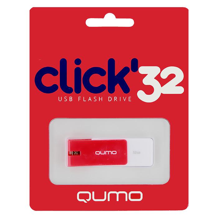 QUMO Click 32GB, CrimsonQM32GUD-CLK-CrimsonQUMO Click - это запоминающее устройство, использующее в качестве носителя флеш-память и подключаемое к компьютеру или иному считывающему устройству по интерфейсу USB.