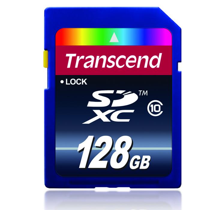 Transcend SDXC Class 10 128GB карта памяти