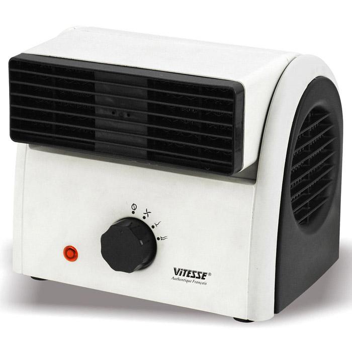 Vitesse VS-863VS-863Керамический тепловентилятор Vitesse VS-863. Если Вам нужен универсальный прибор, способный освежить в жару и согреть помещение в межсезонье, когда ещё не включено центральное отопление, купите надежный и безопасный керамический тепловентилятор Vitesse.