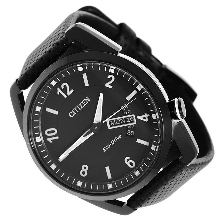 Наручные часы Citizen AW0015-08EEAW0015-08EEНаручные мужские часы Citizen AW0015-08EE. Данная модель имеет гибридный механизм Eco-Drive. Проходя через специальный светопроницаемый циферблат, свет попадает на высокочувствительный фотоэлемент, преобразующий его в энергию, которая аккумулируется в специальном накопителе и используется для питания кварцевого часового механизма.