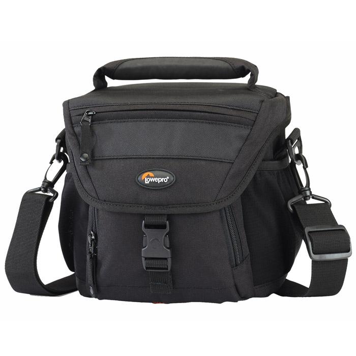 Lowepro Nova 160 AW, BlackNova 160 AW черныйКомпактная сумка Lowepro Nova 160 AW предназначена для удобной переноски цифровой зеркальной фотокамеры, сменных объёктивов, карт памяти и прочих аксессуаров. Всепогодный защитный чехол предохраняет сумку и её содержимое во время работы в сложных погодных условиях. Сумку можно закрепить на поясе или носить в руке или на плече.