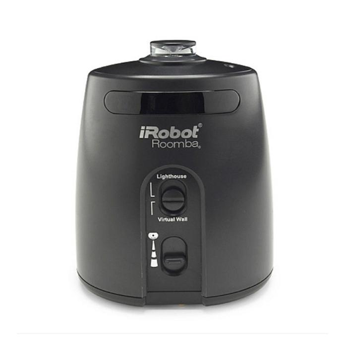 iRobot координатор движения для RoombaКоординатор движения для RoombaВ одном режиме iRobot координатор для Roomba регулирует движение пылесоса с помощью радиолуча; в другом - создает с помощью инфракрасного луча невидимую границу, за которую пылесос не может выйти. Устройство работает от 2-х элементов питания типа «С».