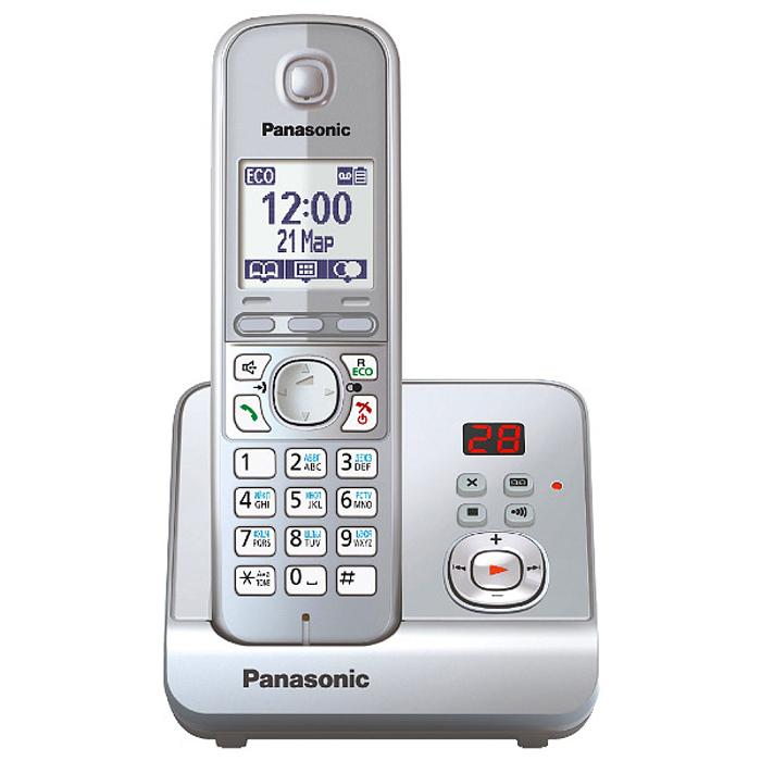 Panasonic KX-TG6721 RUS DECT телефонKX-TG6721 RUSРадиотелефон Panasonic KX-TG6721 RUS оснащен цифровым автоответчиком на 30 минут и базой с двухзначным дисплеем, где высвечивается количество оставленных сообщений. При отключении электричества телефон продолжает работать от аккумуляторов трубки, установленной на базовый блок. При этом можно сделать или принять вызов посредством громкой связи, либо используя вторую трубку. Если по каким-то причинам звонок был пропущен или кто-то оставил на автоответчике сообщение, индикатор начинает мигать. Прослушать оставленное сообщение или узнать номер звонившего можно нажатием одной кнопки. Более того, воспользоваться данной функцией можно при входящем звонке или при работе будильника. В этом случае индикатор мигает быстрее и, нажав кнопку, можно принять звонок через громкую связь базового блока или отложить сигнал будильника еще на пять минут.Помимо абсолютно новых опций, Panasonic KX-TG6721 RUS поддерживает функцию радионяня, ранее доступную только у топовых моделей DECT телефонов Panasonic....
