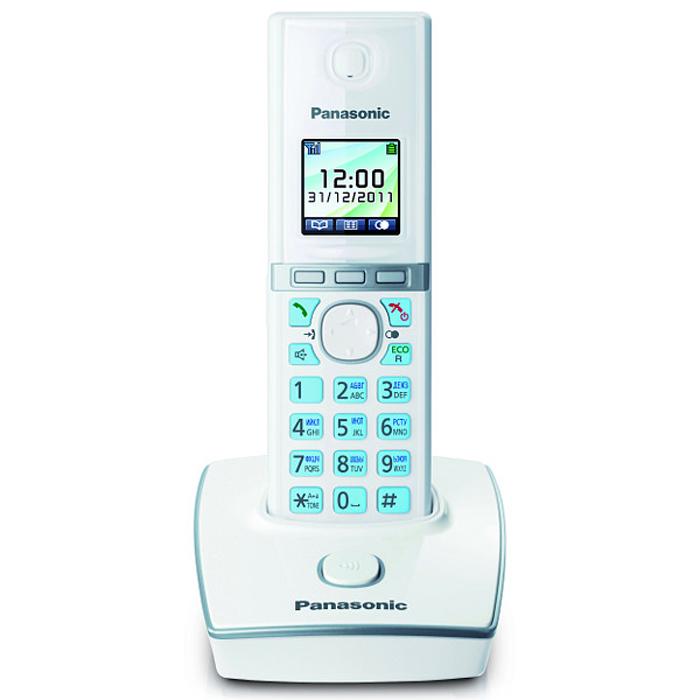 Panasonic KX-TG8051 RUW DECT телефонKX-TG8051 RUWБеспроводной телефон Panasonic KX-TG8051 стандарта DECT/GAP. Стандарт DECT/GAP позволяет использовать совместимые трубки других моделей и производителей (некоторые функции могут быть недоступны). Особое внимание уделяется удобству использования. Трубка имеет цветной TFT-дисплей и подсветку клавиш. Эргономичные формы обеспечивают комфорт при длительных разговорах. Меню телефона полностью русифицировано, что позволяет легко менять настройки и редактировать до 200 контактов телефонной книги. Помимо продуманного дизайна и навигации, модель обладает широким функционалом. Модель KX-TG8051RU1 оснащена функцией резервного питания, обеспечивающей временную работу базового блока от аккумуляторов трубки. При отключении электричества трубка устанавливается на базовый блок, и при включении громкой связи появляется возможность совершать и принимать вызовы. Среди других опций стоит упомянуть об Эко режиме, позволяющем снизить мощность ...