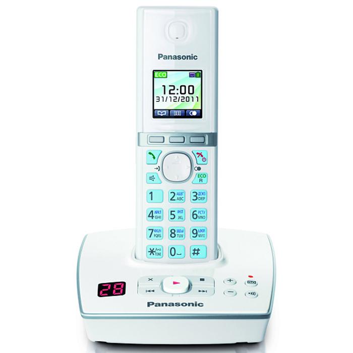 Panasonic KX-TG8061 RUWKX-TG8061 RUWУникальность радиотелефону Panasonic KX-TG8061 придает функция резервного питания. Обычные DECT телефоны не работают при отключении электричества, а у Panasonic KX-TG8061 заряд аккумуляторов трубки сможет обеспечить временную работу базового блока. В радиотелефоне Panasonic KX-TG8061 сочетаются современный дизайн и множество разнообразных функций. Ключевым преимуществом DECT телефона Panasonic KX-TG8061 стала функция резервного питания базового блока от трубки (при отключении электроэнергии) и цветной TFT-дисплей. Радиотелефон Panasonic KX-TG8061RU выполнен в классическом белом цвете с соблюдением четких прямых линий. Трубка комфортно лежит в руке, а благодаря клавишам с голубой подсветкой и четкому TFT-дисплею набирать номер и изменять настройки телефона очень удобно. Меню радиотелефона Panasonic KX-TG8061RU полностью русифицировано, что существенно упрощает использование телефонной книги. Этот DECT телефон имеет встроенный цифровой автоответчик на 18 минут записи. Узнать...