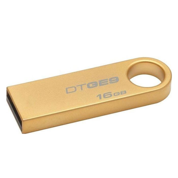 Kingston DataTraveler GE9 16GBDTGE9/16GBKingston DataTraveler GE9 – это сверхтонкий стильный USB-накопитель со стильзованным корпусом под 24-каратное золото. Данная модель универсальна в использовании: для работы, для учебы, и просто для развлечений. Накопитель просто подключается к порту USB 2.0 ноутбука или настольного ПК. С помощью этой флешки Вы легко можете переносить важные документы, музыку, фильмы, фотографии и другие файлы.