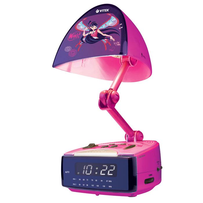 Vitek Winx 4051 Musa радиочасы с лампой-ночником4051-WX-01Волшебные радиочасы с лампой-ночником позволят сладко выспаться и проснуться вовремя с хорошим настроением под свою любимую музыку на любимом радио! Если Ваш ребенок боиться темноты, волшебный свет лампы-ночника будет до самого утра оберегать его сон. А если утром захочется еще немного понежиться в постели, можно использовать функцию короткого сна – сигнал будильника будет каждые 9 минут напоминать о том, что пора вставать. Уникальные радиочасы с лампой-ночником Winx WX-4051 MS дают возможность, как следует выспаться, не пропустив при этом момент, когда следует вставать. Своевременное пробуждение под любимые мелодии заряжает положительными эмоциями и дарит хорошее настроение на весь день. Мягкий свет лампы-ночника будет охранять сон до самого утра. А функция короткого сна, которая также предусмотрена в этих радиочасах, позволяет еще немножко понежиться в постели. Практичные радиочасы с лампой ночником WX-4051 MS – это современный стильный прибор, который будет радовать Вашего...