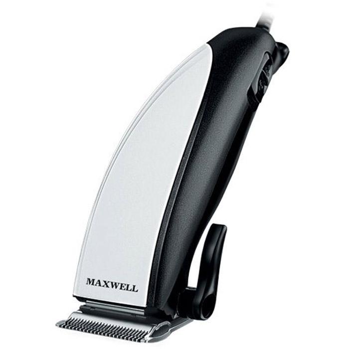 Maxwell MW-2104, Black2104-MW-01Машинка для стрижки волос Maxwell 2104MW – универсальная модель, которая характеризуется простым использованием, а также высокой надежностью. С ее помощью можно сделать практически любую прическу, ведь в комплекте поставляется 4 насадки, которые меняются за считанные секунды. Эти съемные насадки обеспечивают длину среза волос от 3 до 12 миллиметров. Благодаря специальному покрытию лезвий (нержавеющая сталь), машинка без проблем будет стричь даже жирные и прочные волосы. Стильная и компактная машинка для стрижки волос Maxwell 2104MW – это идеальный подарок для каждого, будь то профессиональный парикмахер или просто Ваш друг (родственник). Модель имеет хорошо продуманный дизайн, выполненный в стиле модерн. А компактный корпус обеспечивает необходимый комфорт во время процесса стрижки.