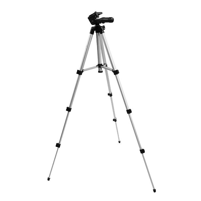 Dicom TV-220 h, SilverTV 220Dicom TV-220 - напольный трипод, предназначенный для фото- и видеокамер. В комплекте идет несменная 2D головка и чехол для штатива. Трипод оснащен уровнем. Максимальная нагрузка достигает 1 кг. Высота съемки может колебаться от 35,5 до 106 см.