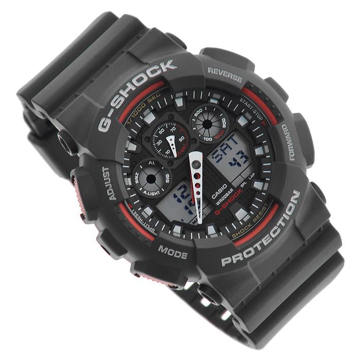Наручные часы Casio GA-100-1A4GA-100-1A4Водонепроницаемые и противоударные часы Casio GA-100. Длина ремешка с учетом корпуса 24,5 см. Ширина ремешка 2,2 см. Диаметр корпуса 5 см.
