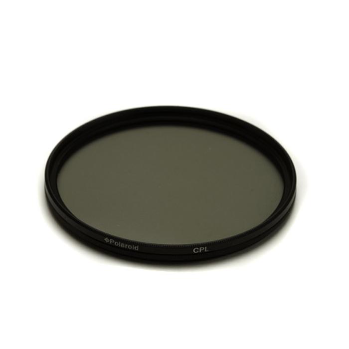 Polaroid CPL 55mmPLFILCPL55Циркулярный поляризационный фильтр Polaroid CPL предназначен для уменьшения бликов и отражений от воды и других поверхностей, усиливает цвета, а также уменьшает контраст между небом и землей. Поляризационный фильтр сокращает количество света, попадающего на матрицу фотоаппарата на 1-3 ступени.
