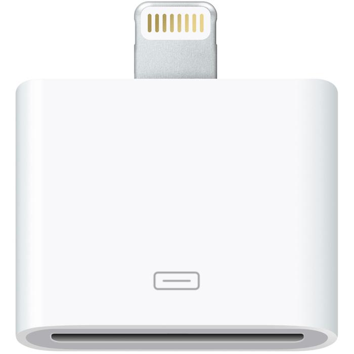 Apple Lightning to 30-pin Adapter (MD823ZM/A)MD823ZM/AApple Lightning to 30-pin Adapter позволяет подключать аксессуары для предыдущих моделей iPhone, iPod Touch, а также некоторых аксессуаров для iPad к iPhone 5, iPod Touch 5G и iPod Nano 7G. С помощью этого компактного аксессуара, любая акустика, зарядное устройство или другой аксессуар будут отлично работать с новыми моделями iPhone и iPod, оборудованными разъемом Lightning.
