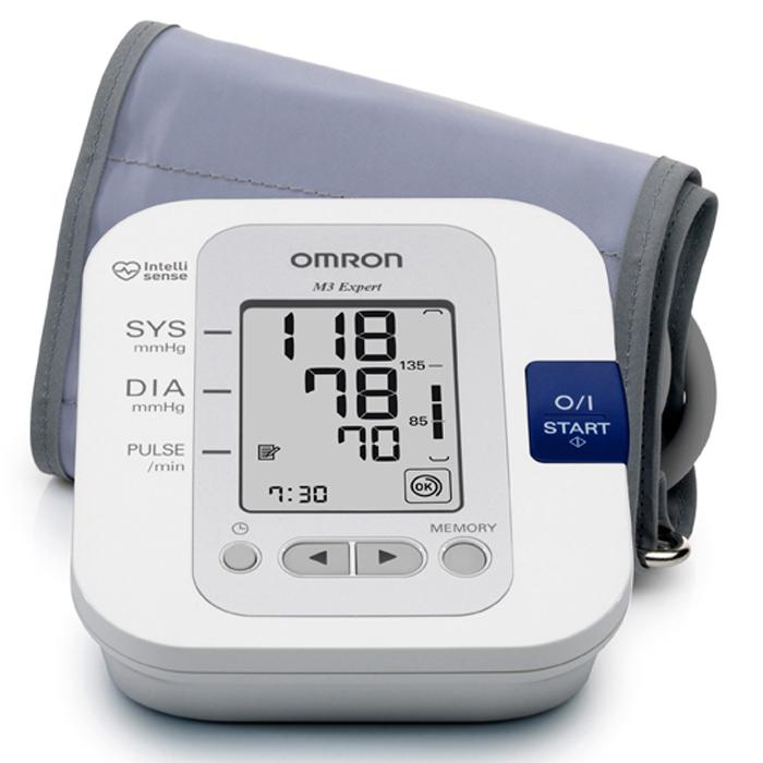 Omron M3 Expert тонометр + адаптер + универсальная манжетаУТ000000756Тонометр M3 Expert — это компактный, полностью автоматический прибор для измерения артериального давления, работающий на основе осциллометрического метода. Он легко и быстро измеряет артериальное давление и частоту пульса. Прибор использует усовершенствованную технологию «IntelliSense», которая обеспечиает комфортное для пациента управляемое нагнетание воздуха в манжету без предварительной установки требуемого уровня давления воздуха или его повторной накачки. Технология Intellisense гарантирует автоматический выбор необходимого давления в манжете перед измерением. Прибор не создает чрезмерного давления в манжете и исключает болевые ощущения во время измерения.
