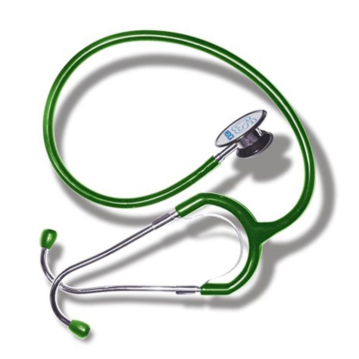 CS Меdica CS 417 стетофонендоскоп, Green000 000 00047GCS Меdica CS 417 стетофонендоскоп, который работает в одном из двух положений головки. Переключение прибора на работу с диафрагмой (функция фонендоскопа) или с коолколообразной чашечкой (функция стетоскопа) осуществляется поворотом головки на 180 градусов до щелчка. Большая и чувствительная диафрагма обеспечивает высокую разрешающую способность при аускультации сердечно-сосудистой системы, органов дыхания, а также внутренних органов брюшной полости.