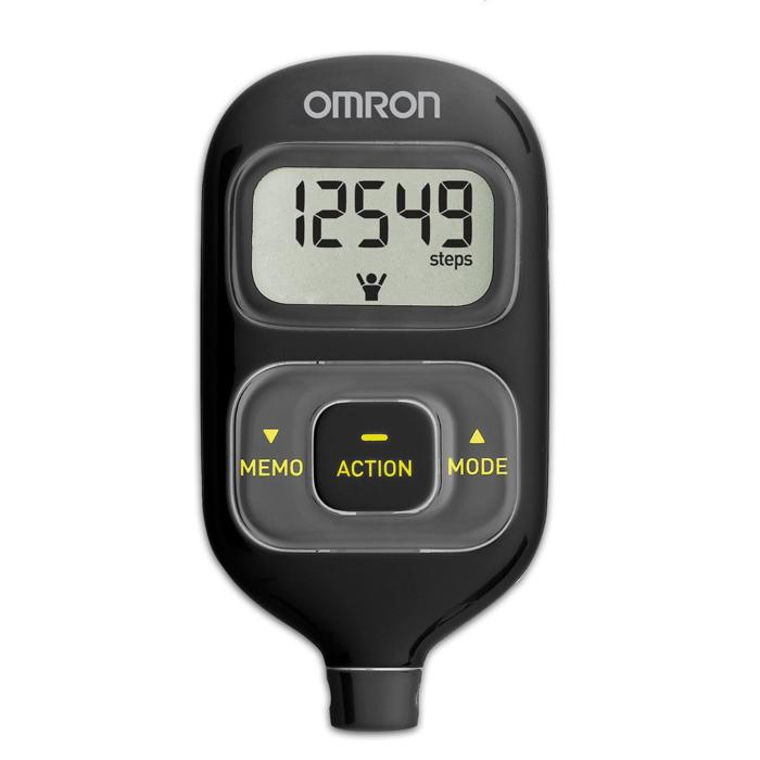 Omron HJ-203 шагомер, BlackУТ000000327Шагомер OMRON Walking Style III HJ-203 - cтильный, удобный, функциональный шагомер с двумя датчиками, что позволяет носить прибор в сумке, кармане, повесить на шею или ремень и получать более точные результаты. Функции расчета числа шагов, пройденного расстояния, потраченных калорий, сожженного за день жира помогут отследить Вам изменения состояния своего организма, понять сколько Вам не хватило до суточной нормы (10000 шагов). Шагомер OMRON Walking Style III HJ-203 - настраивается индивидуально под Вас: Вы вводите данные о своем весе и длине шага, которые хранятся в памяти прибора. Шагомер OMRON Walking Style III запоминает показания в течении 7 дней. Таким образом Вы можете оценить изменения в вашем организме, произошедшие за неделю.
