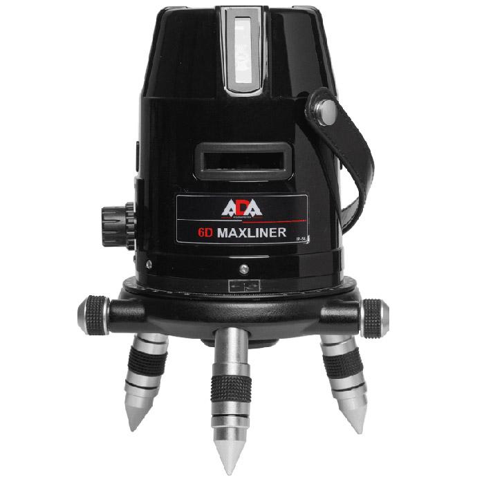 Построитель лазерных плоскостей ADA 6D MaxlinerА00138Нивелир ADA 6D Maxliner - прочный и легко управляемый, многофункциональный измерительный прибор, который строит 4 вертикальные, 3 горизонтальные линии, точку отвеса. Вертикальные линии и лазерный отвес работают одновременно. Прибор оснащен магнитным компенсатором, что существенно упрощает работу. При отклонении от горизонта на ±3,5° прибор автоматически подаёт сигнал о невозможности самовыравнивания миганием лазерных линий. Механизм вращения точной настройки и лимб позволяют более точно наводиться на цель. Механизм точной регулировки облегчает подготовку к работе. Система блокировки блокирует компенсатор, когда прибор выключен, тем самым, позволяет избежать влияния вибраций при транспортировке.