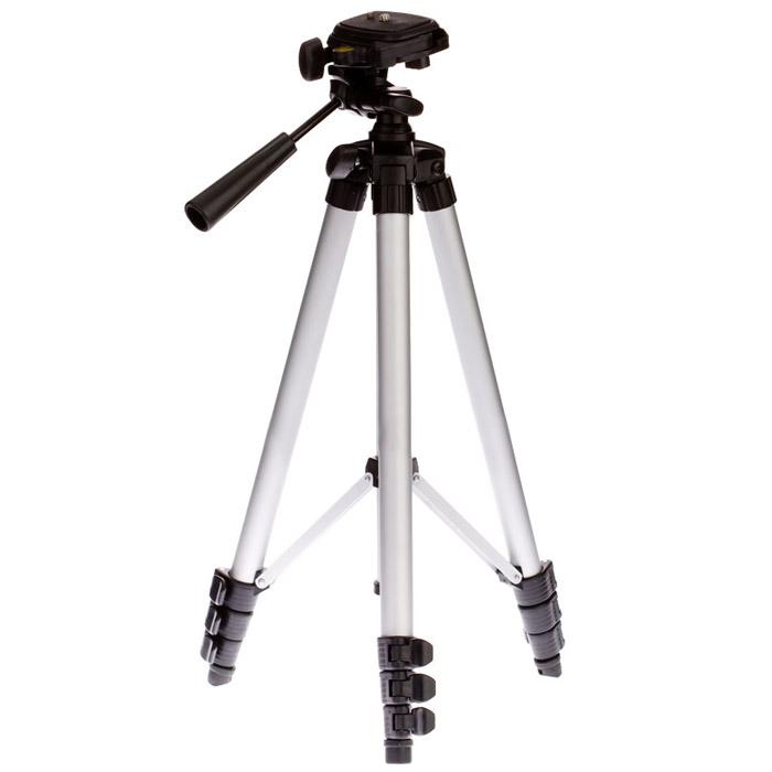 Штатив ADA Digit 130 для нивелира, фото/видеоА00170ADA DIGIT 130 - штатив из алюминия для установки фото/видео техники и небольших лазерных приборов с соединительной резьбой 1/4. Головка штатива поворачивается на 360°. Максимальная высота - 130 см. Максимальная нагрузка - 1,7 кг. Диаметр площадки - 3,5 х 4,5 см. Преимущества модели: Выдвижные ноги - для устойчивого положения на неровных поверхностях; Поворот на 360° - для удобного перемещения установленного на штатив прибора; Специальные клипсы - фиксируют высоту ног; Компактность - обеспечивает легкую переноску конструкции; Возможность работы с нивелиром - подходит для нетяжелых инструментов.