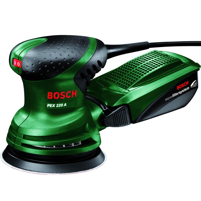 Шлифмашина Bosch PEX 220 A (0603378020)0603378020Bosch PEX 220 A — это мощная эксцентриковая шлифмашина, которая выгодно отличается высокой производительностью съема. Наряду с этим она настолько практична, что подходит даже для сложных шлифовальных и полировальных работ, например в труднодоступных местах или для рельефных поверхностей. PEX 220 A гарантирует высокую производительность шлифования и превосходные результаты как при деликатном шлифовании, так и в ходе полирования. Кроме того, PEX 220 A оснащена системой микрофильтрации, разработанной Bosch. Встроенный элемент для всасывания пыли удаляет пыль непосредственно с заготовки, направляя ее во входящий в комплект пылесборник системы микрофильтрации. Преимущество: возможность проведения шлифовальных работ даже в меблированных помещениях. Эксцентриковая шлифмашина Bosch PEX 220 A оснащена мощным двигателем на 220 Вт. Благодаря размерам 347 x 70 x 220 мм (Д x Ш x В) и весу 1,4 кг эта машина имеет компактное исполнение и поэтому очень легка в обращении. Здесь...