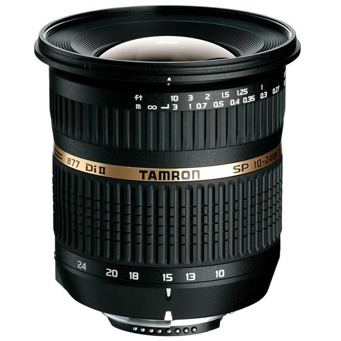 Tamron SP AF 10-24mm F/3.5-4.5 Di II объектив для CanonB001EОбъектив Tamron SP AF 10-24mm/3.5-4.5 Di II LD откроет Вам новые возможности фотографии и позволит Вам создать идеальные фотоснимки. Этот супер широкоугольный объектив разработан на основе известного предшественника Tamron 11-18mm F4.5-5.6. Он относится к профессиональной серии (SP) объективов Tamron и отличается своими высокими оптическими и техническими характеристиками. У этого объектива широкий угол захвата изображения, эквивалентный 16-37 мм в эквиваленте для полноформатных камер. Минимальное фокусное расстояние в 24 см позволяет приблизиться к объекту съемки, для лучшей композиции и творческого решения. Как изумительный пример новаторской технологии Tamron, он дает изображение роскошного качества по всему полю кадра, включая снимки крупным планом. В объективе использованы улучшенные асферические элементы, а также специальные стекла LD и HID. С максимальным углом охвата более 108°, этот классический широкоугольник по последнему слову техники призван буквально и...