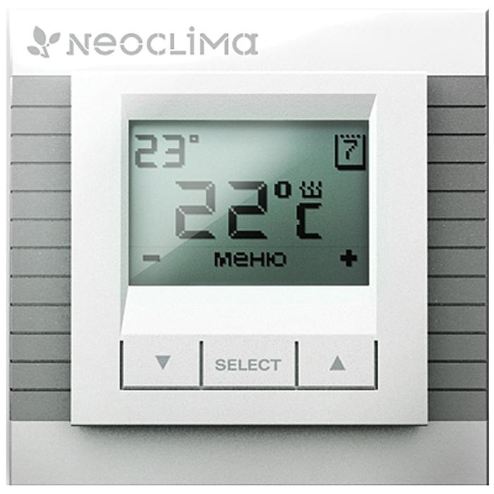 Neoclima TN-DP/LCD терморегуляторTN-DP/LCDТерморегулятор Neoclima TN-DP/LCD имеет выносной датчик температуры пола и встроенный датчик температуры воздуха позволяет прибору работать в двух режимах.