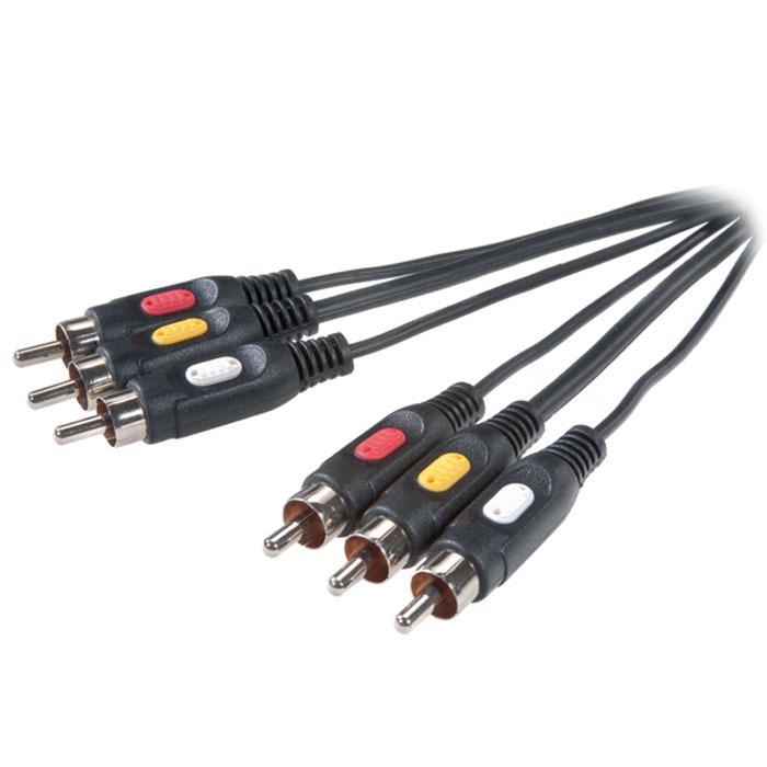 Vivanco 9/51-N кабель, 5 м42030Аудио/видео стереокабель Vivanco 9/14-N (9/51-N) предназначен для передачи изображения и звука между 2 устройствами, оборудованными разъемами RCA.